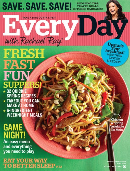 Rachael Ray Every Day Cover - 4/1/2013
