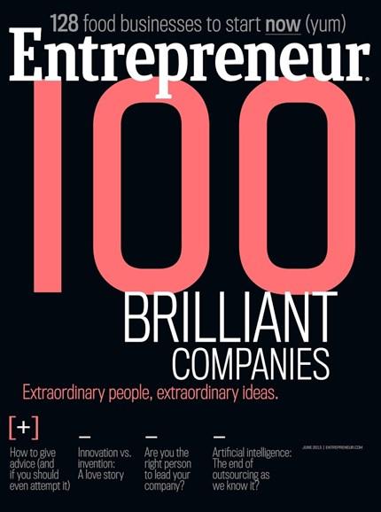 Entrepreneur Cover - 6/1/2015