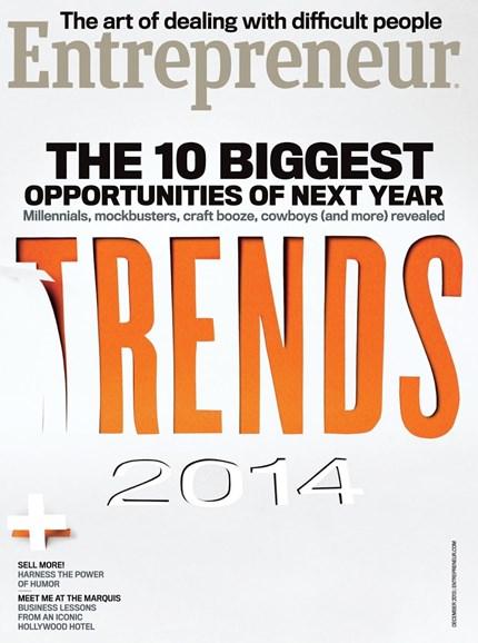 Entrepreneur Cover - 12/1/2013