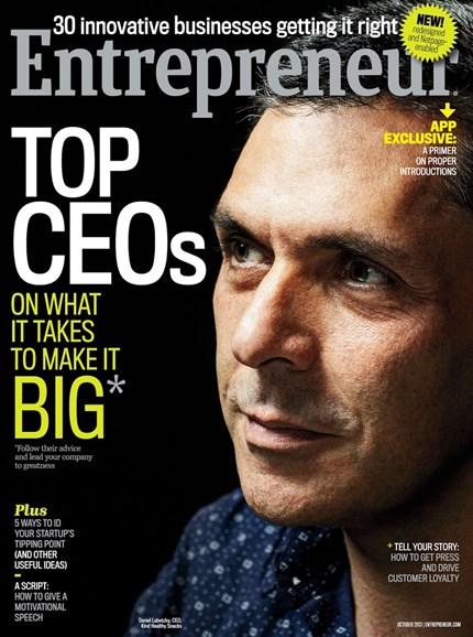 Entrepreneur Cover - 10/1/2013