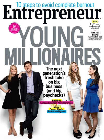 Entrepreneur Cover - 9/1/2013