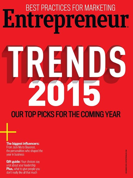 Entrepreneur Cover - 12/1/2014