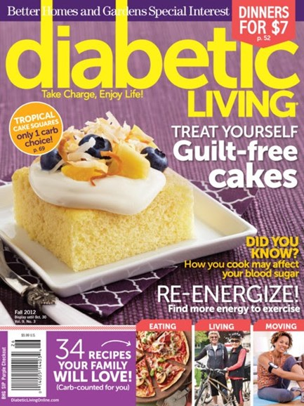 Diabetic Living Cover - 9/1/2012