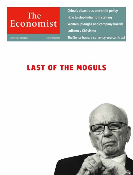 The Economist Cover - 7/23/2011