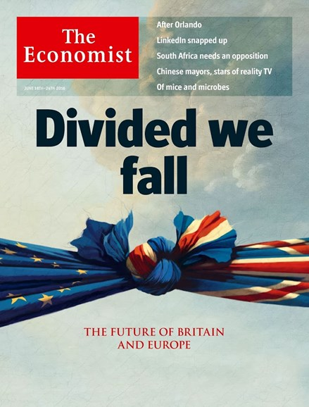 The Economist Cover - 6/18/2016