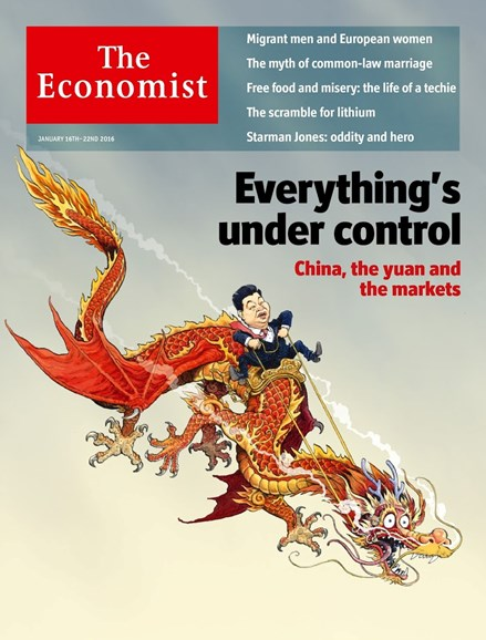 The Economist Cover - 1/16/2016