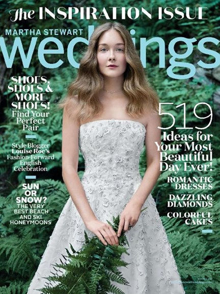 Martha Stewart Weddings Cover - 12/1/2016