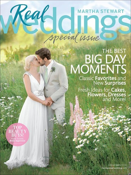 Martha Stewart Weddings Cover - 4/1/2012