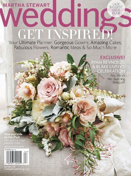 Martha Stewart Weddings Cover - 12/1/2012