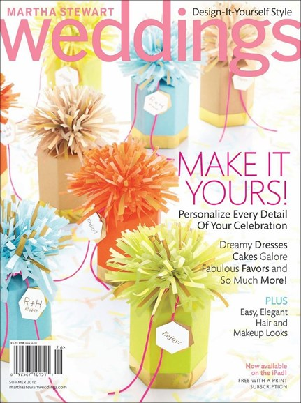 Martha Stewart Weddings Cover - 6/1/2012