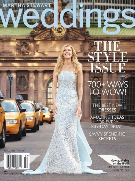 Martha Stewart Weddings Cover - 9/1/2012