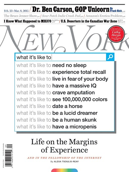 New York Magazine Cover - 2/23/2015