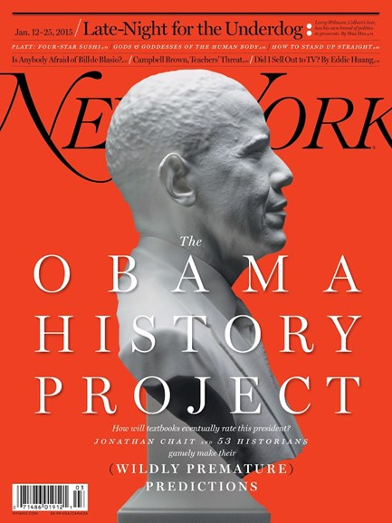 New York Magazine Cover - 1/12/2015