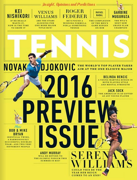 Tennis Magazine Cover - 1/1/2016