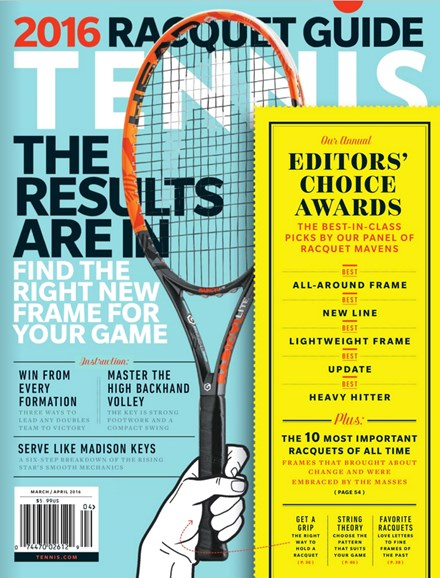 Tennis Magazine Cover - 3/1/2016