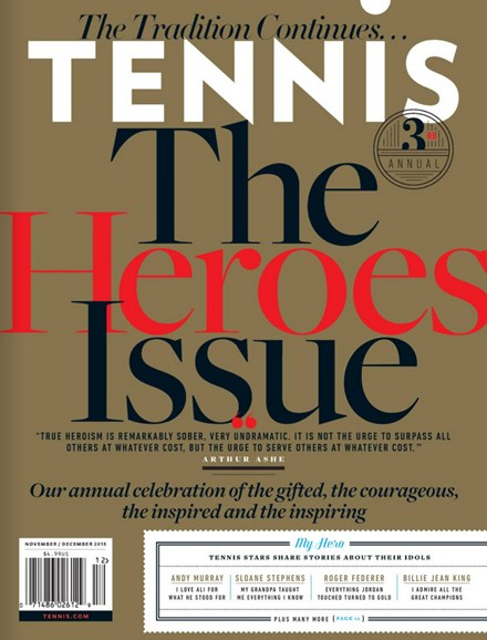 Tennis Magazine Cover - 11/1/2015