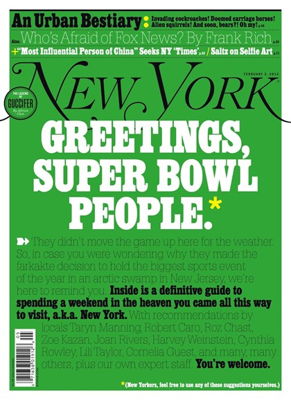 New York Magazine Cover - 2/3/2014