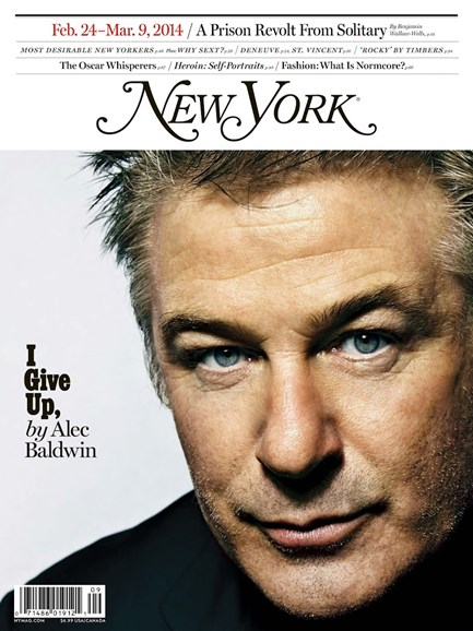 New York Magazine Cover - 2/4/2014
