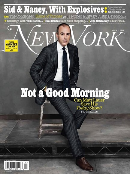 New York Magazine Cover - 4/1/2013
