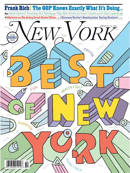 New York Magazine Cover - 3/11/2013