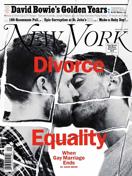 New York Magazine Cover - 3/4/2013