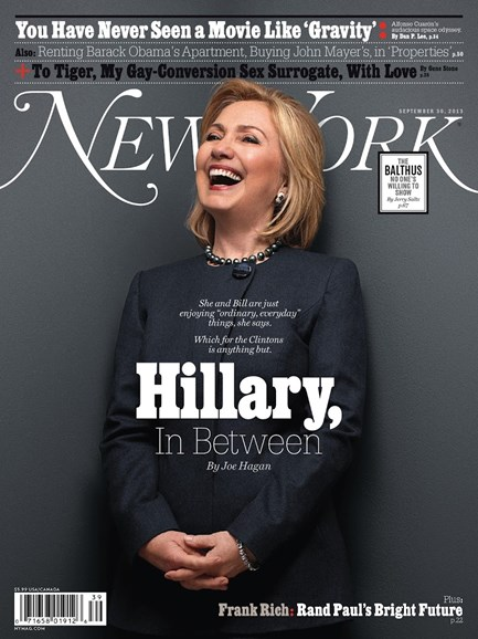 New York Magazine Cover - 9/30/2013