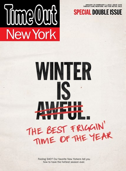 Time Out New York Cover - 1/20/2016