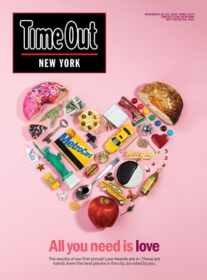 Time Out New York Cover - 11/16/2016