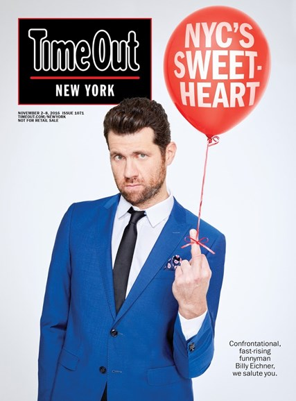 Time Out New York Cover - 11/2/2016