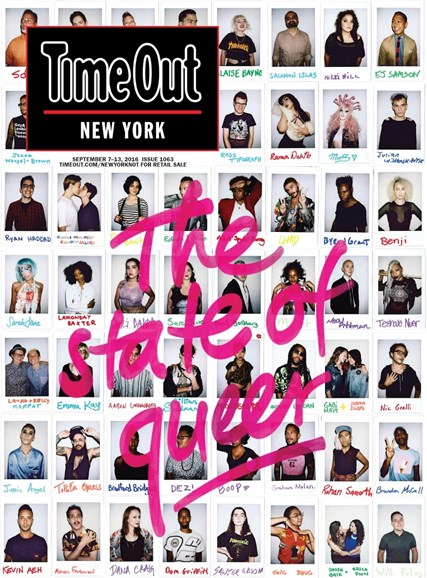 Time Out New York Cover - 9/7/2016