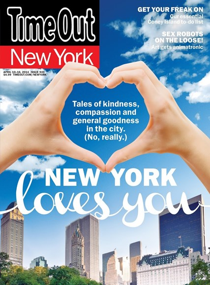 Time Out New York Cover - 4/10/2014