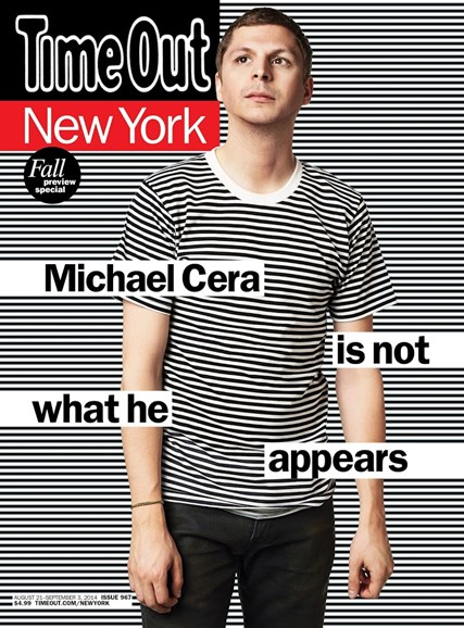Time Out New York Cover - 8/21/2014