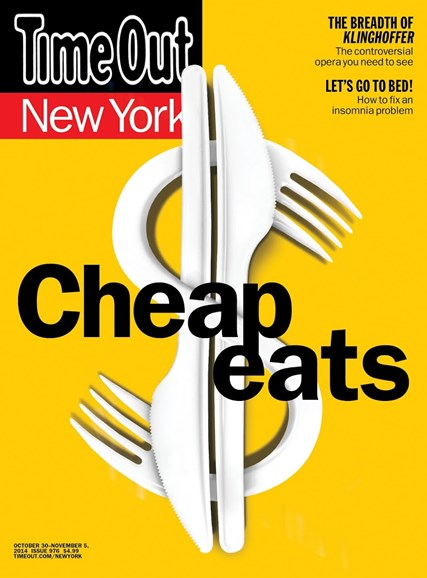 Time Out New York Cover - 10/30/2014