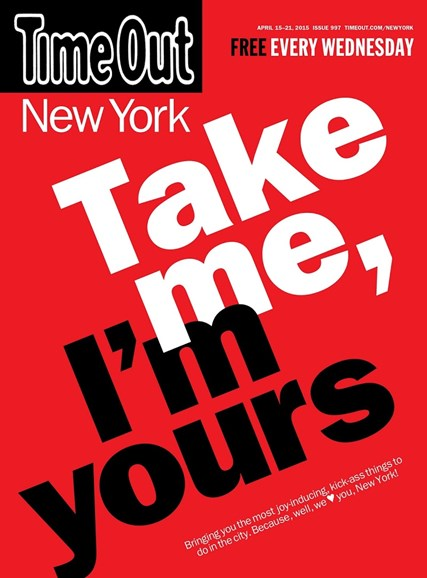 Time Out New York Cover - 4/15/2015