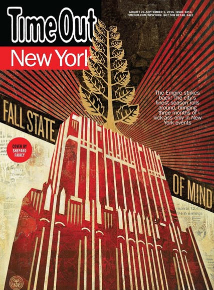Time Out New York Cover - 8/26/2015