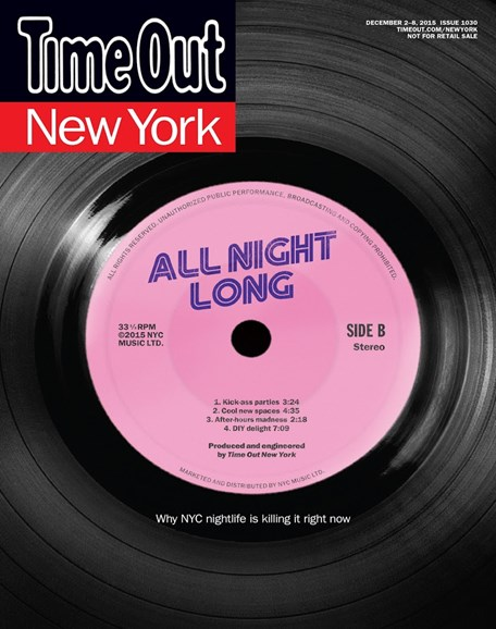 Time Out New York Cover - 12/2/2015