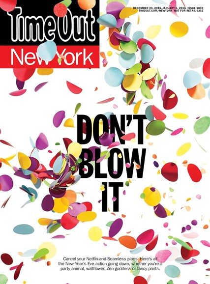 Time Out New York Cover - 12/23/2015