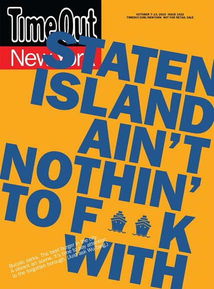 Time Out New York Cover - 10/7/2015