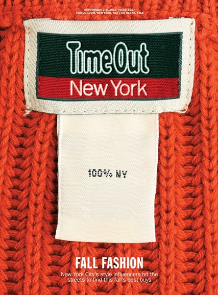 Time Out New York Cover - 9/2/2015