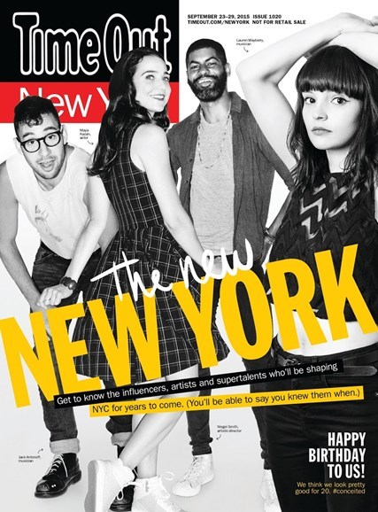 Time Out New York Cover - 9/23/2015