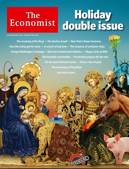 The Economist Cover - 12/20/2014