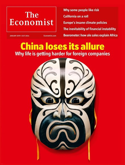 The Economist Cover - 1/25/2014