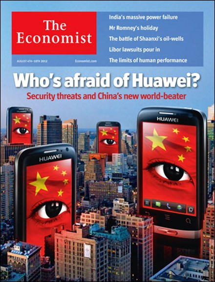 The Economist Cover - 8/4/2012