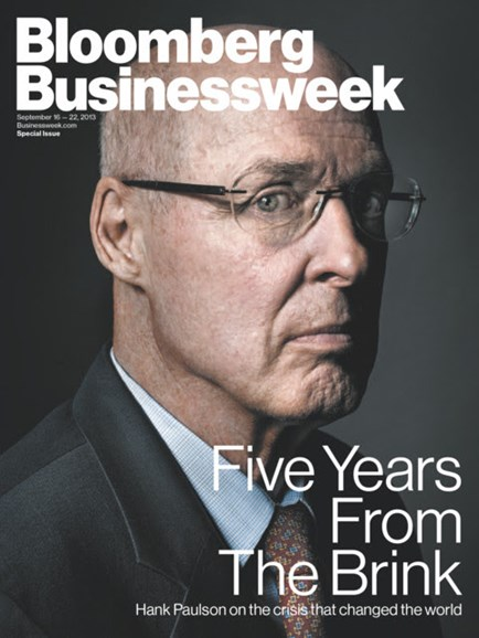 Bloomberg Businessweek Cover - 9/16/2013