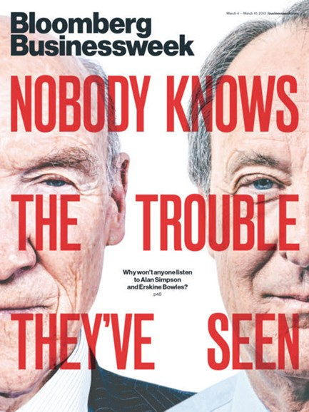 Bloomberg Businessweek Cover - 3/4/2013