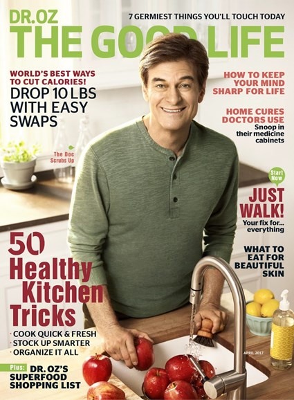 Dr. Oz The Good Life Cover - 4/1/2017