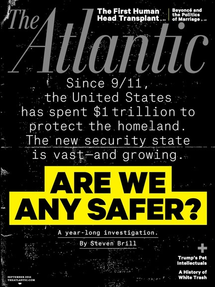 The Atlantic Cover - 9/1/2016