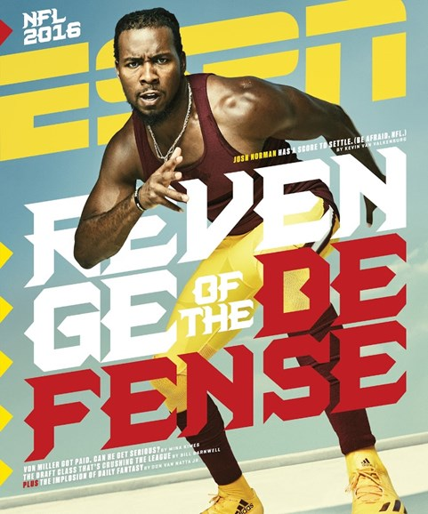 ESPN The Magazine Cover - 9/5/2016