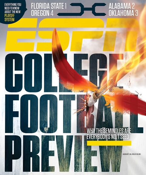 ESPN The Magazine Cover - 8/18/2014
