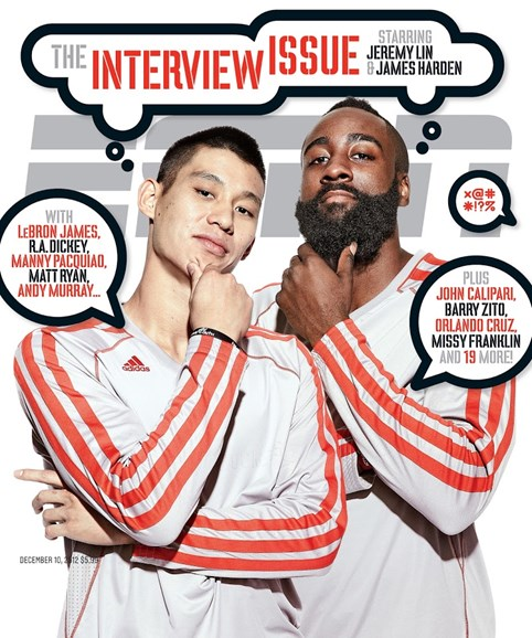 ESPN The Magazine Cover - 12/10/2012
